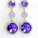 Purple Swarovski Earrings Sandra Callau